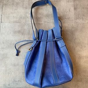 Lancel Blue Bucket Bag